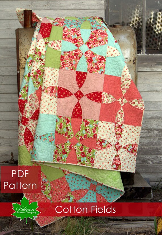 Cotton Fields Quilt Pattern Pdf Quilt Pattern Digital Etsy