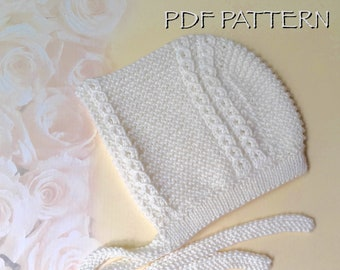 Knitting Pattern for Royal Prince Baby Bonnet- Louis