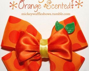 Orange Bird Orange Scented Hair Bow