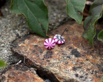 Peppermint Stud Earrings   Food earrings   Purple earrings   Hypoallergenic Studs   Candy earrings   Titanium Earrings   Gift for Mom