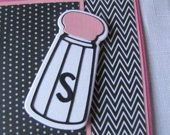 Encouragement Card, Salt and Pepper Card, Light Hearted Card, Friendship Card, Friend Card