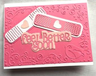 Get well card, feel better card, bandage card, band-aid card