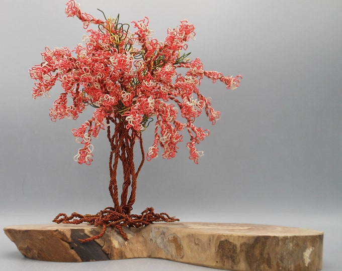 Wire Trees,Wire Tree Sculpture,Photo Tree,Tree of Life,Wire Art,Wire Sculpture,Metal Sculpture,Bonsai Trees,Copper Wire Trees,Flowering Tree