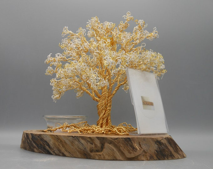 Wire Tree Sculpture,Wire Trees,Wire Art,Wire Sculpture,PhotoTrees,Copper Trees,Tree Sculptures,Flowering Trees,Golden Anniversary Tree