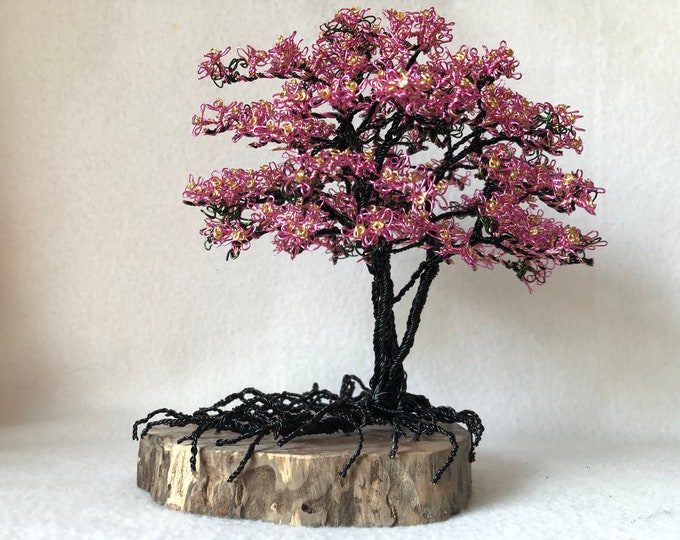 Wire Trees,Wire Tree Sculpture,Wire Tree,Photo Tree,Wire Art,Wire Sculpture,Metal Sculpture,Pink Dogwood Trees,Dogwood Trees,Pink Flowers,