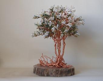 Wire Tree,Wire Tree Sculpture,Wire Art,Wire Trees,Photo Tree,Tree Sculpture,Bonsai Tree,White Wire,,Crepe Myrtle Tree,Memorial Tree,Wire