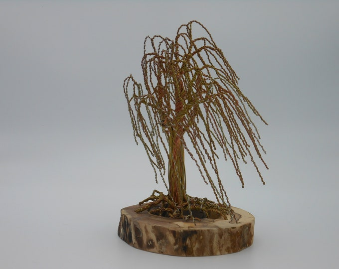 Wire Tree Sculpture,Wire Art,Metal Tree,Wire Trees,Wire Sculpture,Metal Sculpture,Copper Wire Art,Willow Tree,Tree of Life,US Artist,