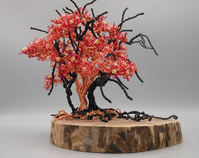 Wire Tree Sculpture,Wire Trees,Wire Art,Wire Sculpture,Metal Sculpture,Copper Trees,Wire Bonsai,Photo Trees,Flowering Trees,Colored Wire
