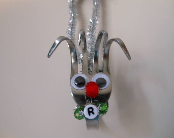 Utensils,Forks,Serving Utensils,Christmas Ornament,Chef Gifts,Waitress Gifts,Silverware,Ornaments,Rudolph Ornament,Handmade Ornaments,