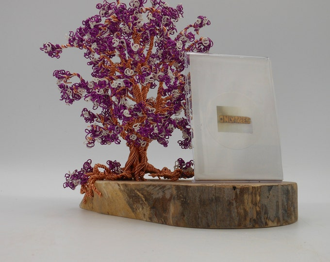 Wire Tree Sculpture,Wire Trees,Tree of Life,Wire Art,Wire Sculpture,Metal Sculpture,Photo Wire Trees,Copper Trees,Flowering Trees,Purple