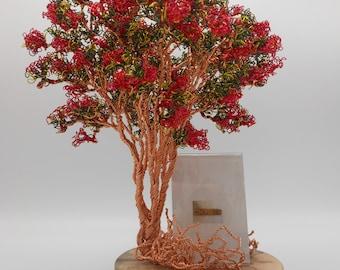 Wire Tree Sculpture,Wire Tree,Wire Art,Copper Tree,Trees,Red Tree,Bonsai Tree,Wire Trees,Crepe Myrtle Tree,Photo Tree,Memorial Tree,Red Wire