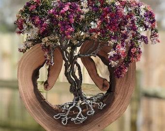 Wire Tree Sculpture,Wire Tree,Wire Art,Tree Sculpture,Copper Tree,Bonsai Tree,Trees, Flower Tree,Wisteria Tree,Wire Flower,Wire,
