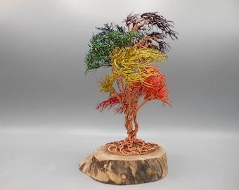 Wire Tree Sculpture,Wire Tree,Wire Art,Tree Sculpture,Wire Sculpture,Copper Tree,Bonsai Tree,Rainbow Tree,Memorial Tree,Pride,Tree,Trees