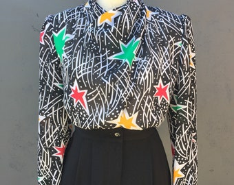 Blouse with stars