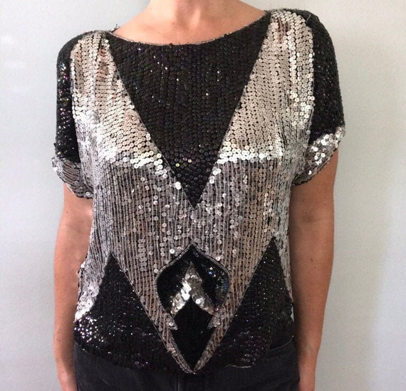 Vegas sequined top