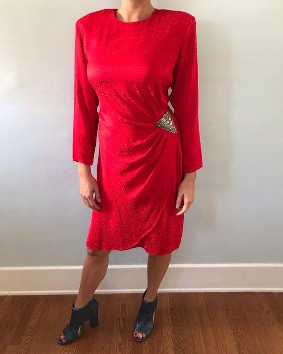 Silk daisy dress