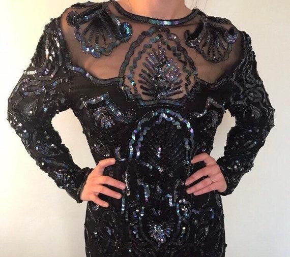 Iridescent sequins dress