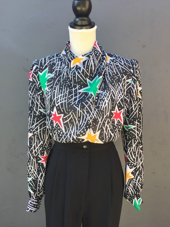 Star statement blouse