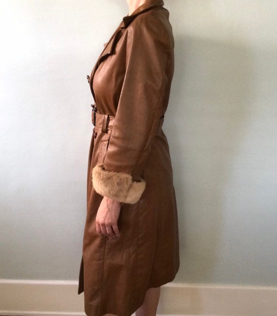 Leather trench coat - image 8