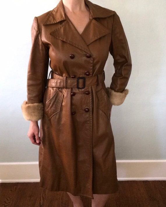 Leather trench coat - image 7