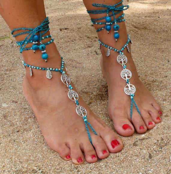 707e50a35 Love Hippie Life 3 Sandalias Pies descalzos Pulseras