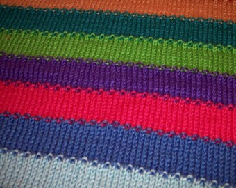 Stripes of Rainbow colors Lapghan