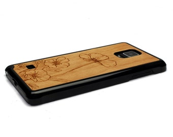 For Samsung Galaxy Note 4 Case Wood Flowers, Note 4 Case Wood Note 4 Case, Wood Galaxy Note 4 Case
