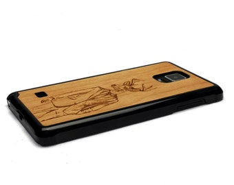 For Samsung Galaxy Note 4 Case Wood Stylish Deer, Note 4 Case WoodNote 4 Case, Wood Galaxy Note 4 Case