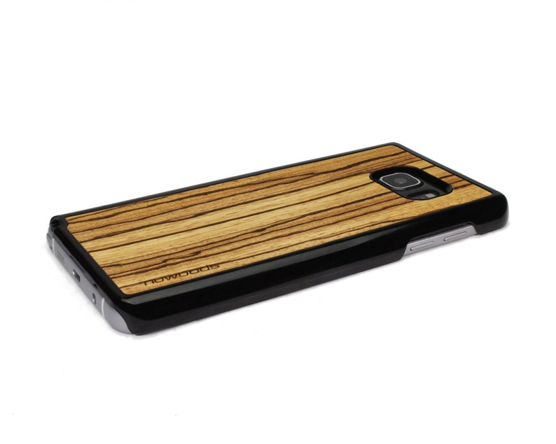 For Samsung Galaxy Note 5 Case Wood Zebrawood Note 5 Case image 0