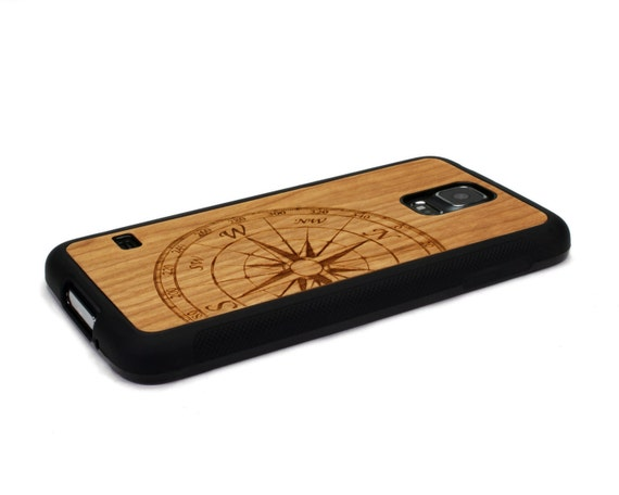 newest 947ed dcaae For Samsung Galaxy S5 Case Wood Compass, S5 Case, Wood Galaxy, Samsung S5  Wood Case