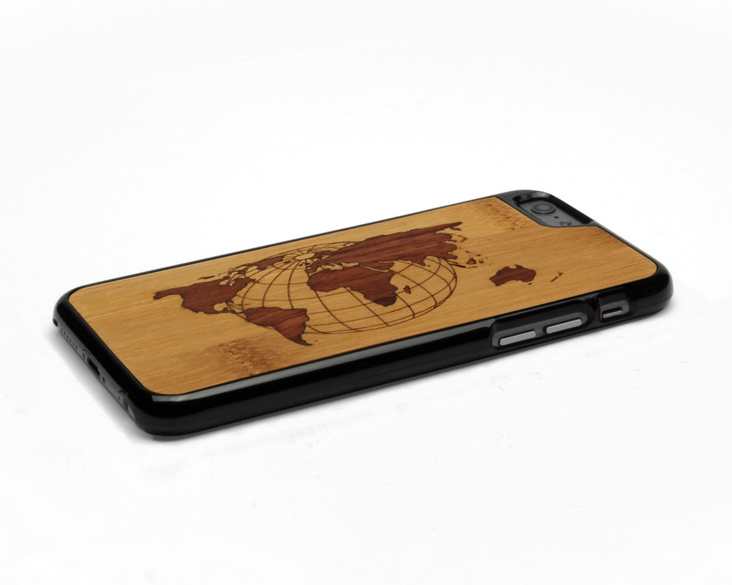 World Map Iphone 6s Case.Iphone 6 Case Wood World Map Inlay Bamboo Rosewood Wood
