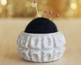 Plastic and Wool Pin Cushion #009