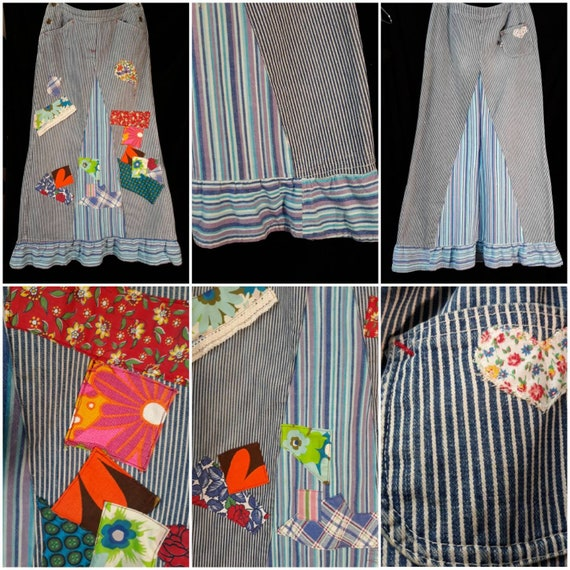 Vintage 1970's Patchwork Skirt