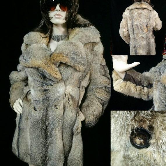 Vintage 70's Coyote Fur Coat