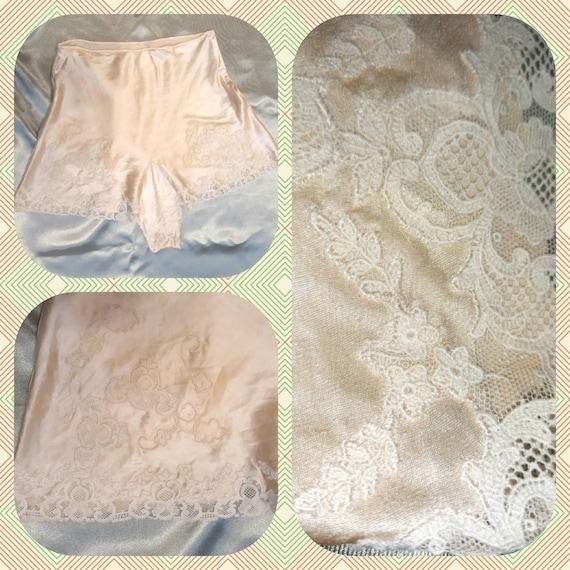 Vintage 1930's / 1940's silk lingerie tap shorts