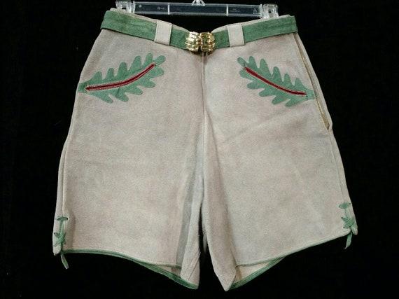 Vintage Lederhosen suede shorts