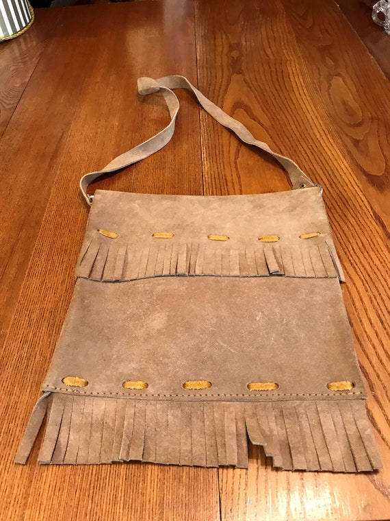 Vintage 1960's BoHo Suede Fringed Leather Hippie S
