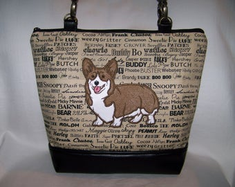 89876154a5e6 Corgi Custom Made Handbag-Purse-Made to Order