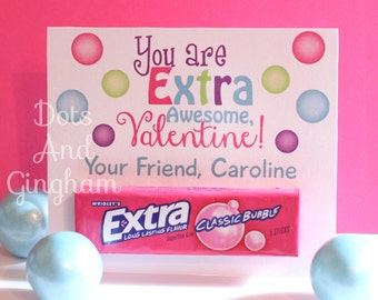 image relating to Extra Gum Valentine Printable referred to as Valentine gum Etsy