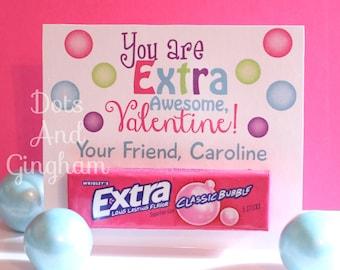 photograph relating to Extra Gum Valentine Printable named Valentine gum Etsy