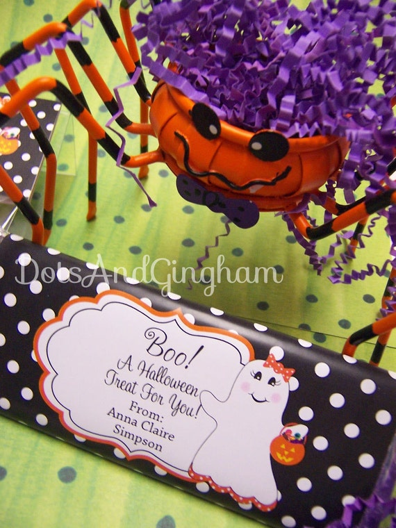 Printable Halloween Candy Bar Wrapper Halloween Ghost Candy Bar