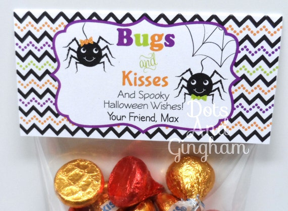 photo regarding Bugs and Kisses Free Printable referred to as Halloween Insects and Kisses Take care of Bag Topper, Printable Insects and Kisses Take care of Topper, Spider and Kisses, Trick or Address Want, Trunk or Deal with