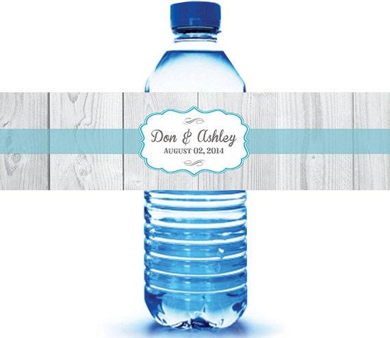 Rustic Wedding Water Bottle Labels - Country Wedding - Wedding