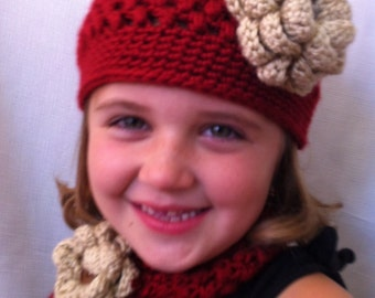 Baby Crochet Hat and Scarf