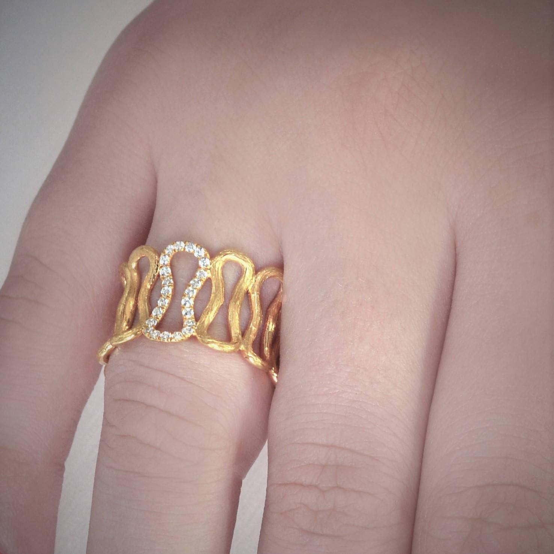 Infinity Diamond Wedding Ring Unique Wedding Ring Wide