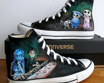 Custom Hand Painted Converse Shoes Corpse Bride Any size, colour, character and design