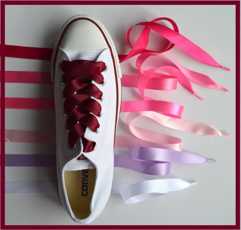 056deaf5342 Satin Ribbon Shoe Laces for Converse TrainersBoots Shoes
