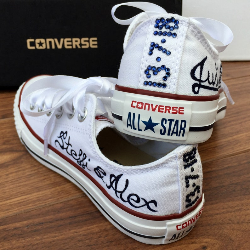 Converse Sur Mariée Just Chaussures Mesure MarriedEtsy Mariage EWQroxCBde