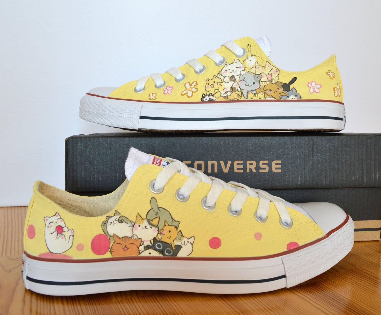 7f471d85b9ed Custom Hand Painted Converse Shoes cute Japanese tsumineko