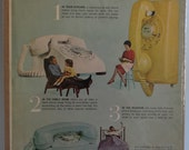 1963 Bell Telephone System Advertisement - McCall 39 s Magazine - Bell Telephone Print Ad - Yellow White Blue Rotary Telephone Ad - Rotary